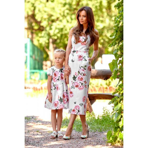 Платье детское с розами 11063-1