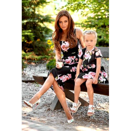 Платье детское с розами 11063