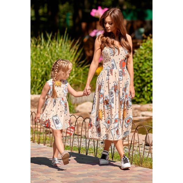 Платье детское с картами 11071