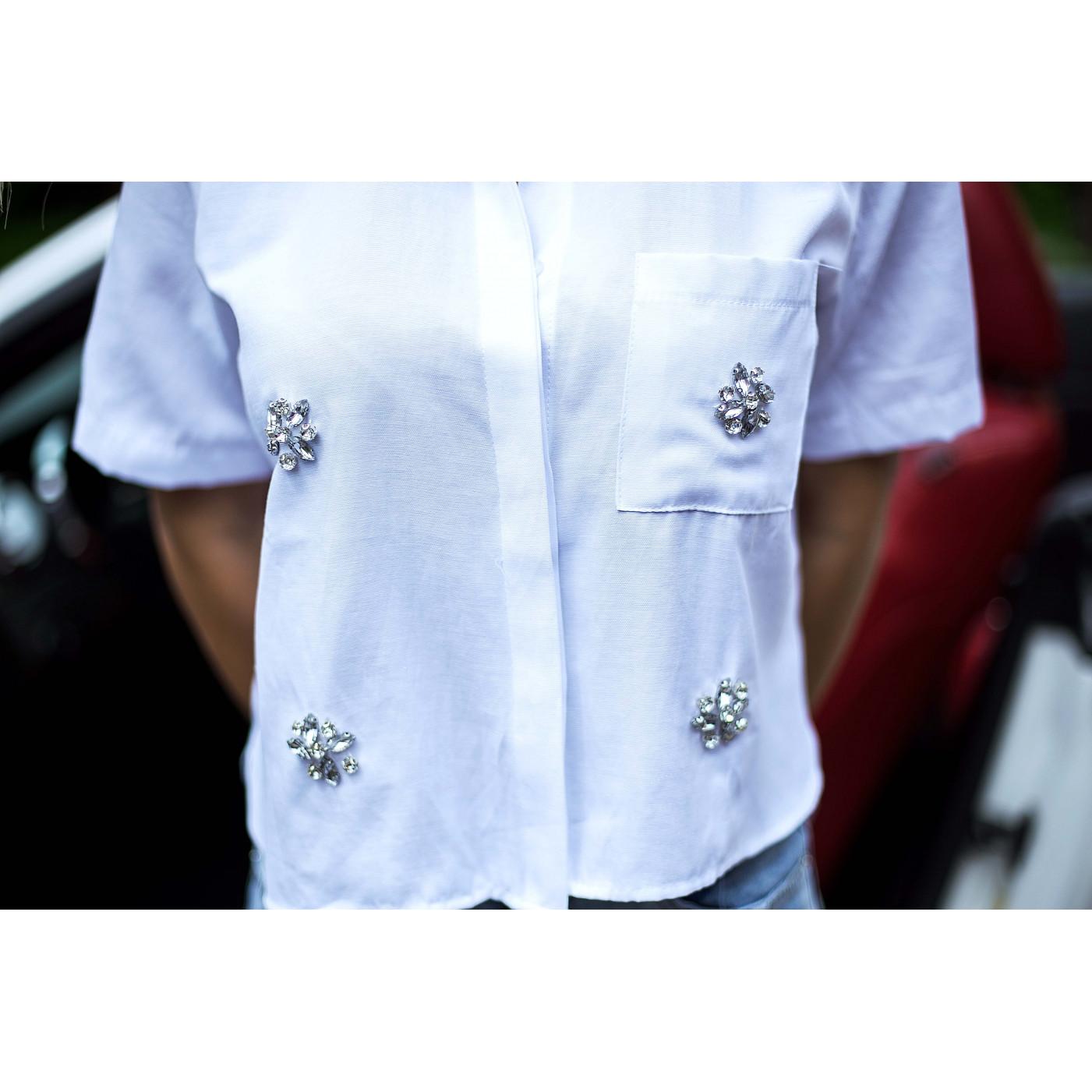 Рубашка со стразами 3621