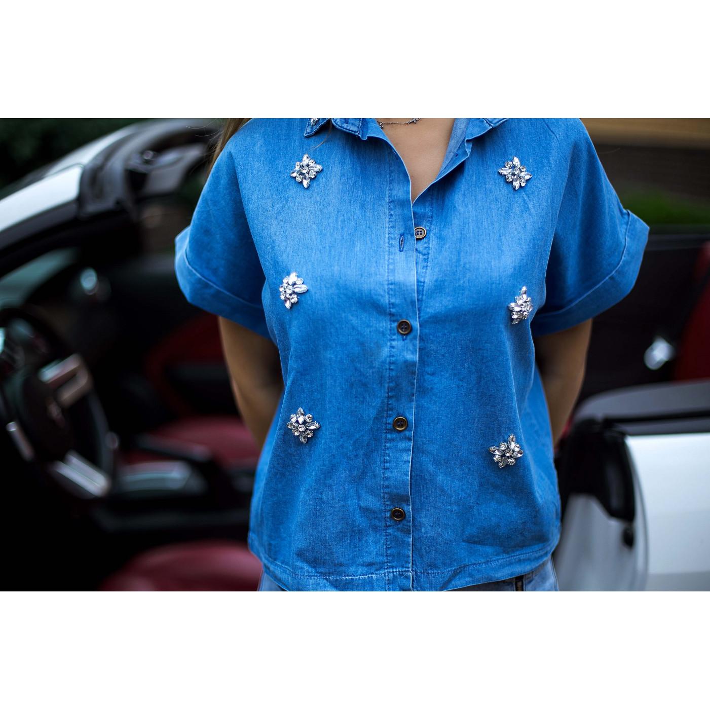 Рубашка джинсовая 3781