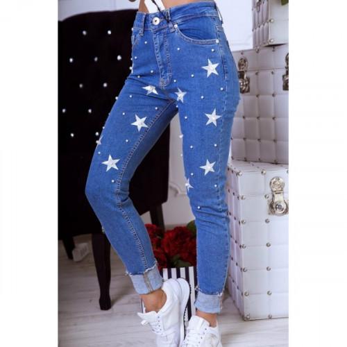 Джинсы со звездами 1117-0