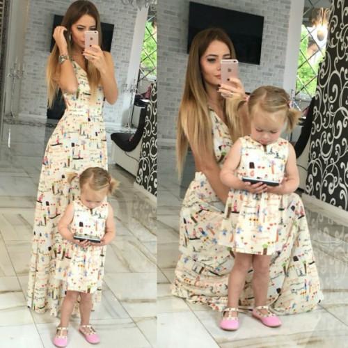 Детское шифоновое платье familylook 10541
