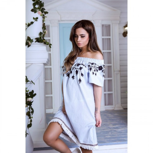Платье открытые плечи 4328