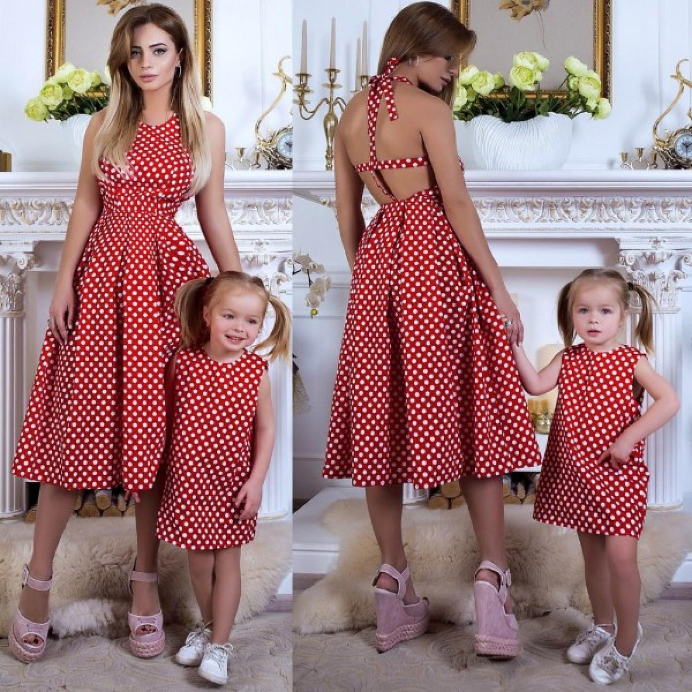 Сукня дитяча в горошок Family Look 10591