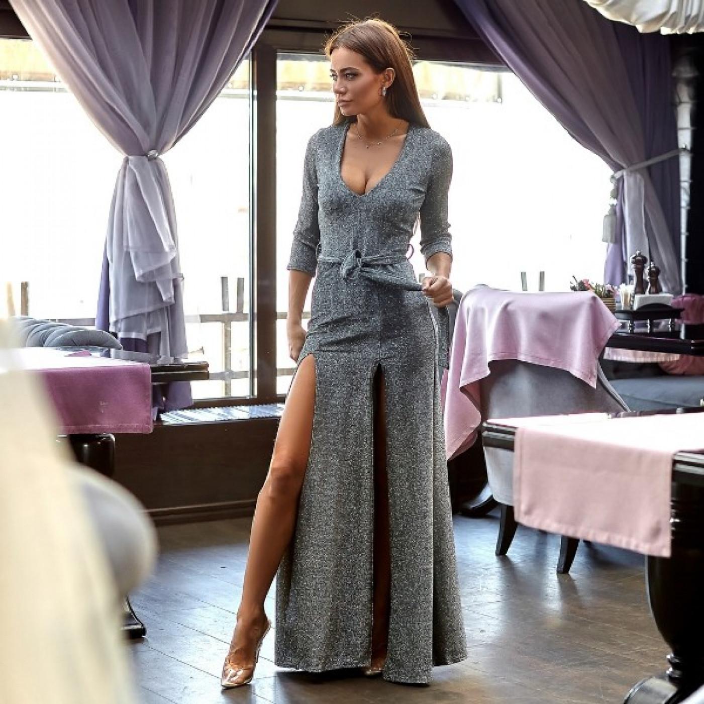 Платье длинное люрекс 10953