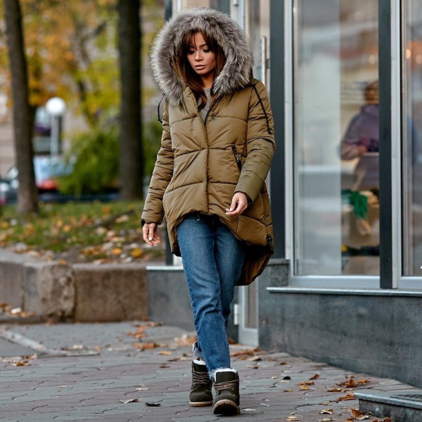 Куртка - парку зимова з натуральним хутром 10648
