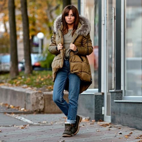 Куртка - парка зимняя с натуральным мехом 10648