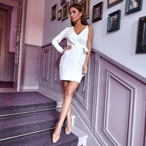 Платье с одним рукавом 11112