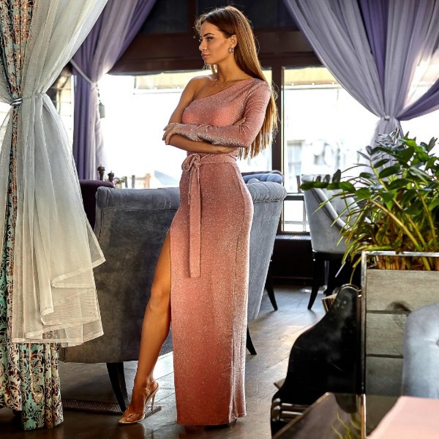 Асимметричное вечернее платье 10952