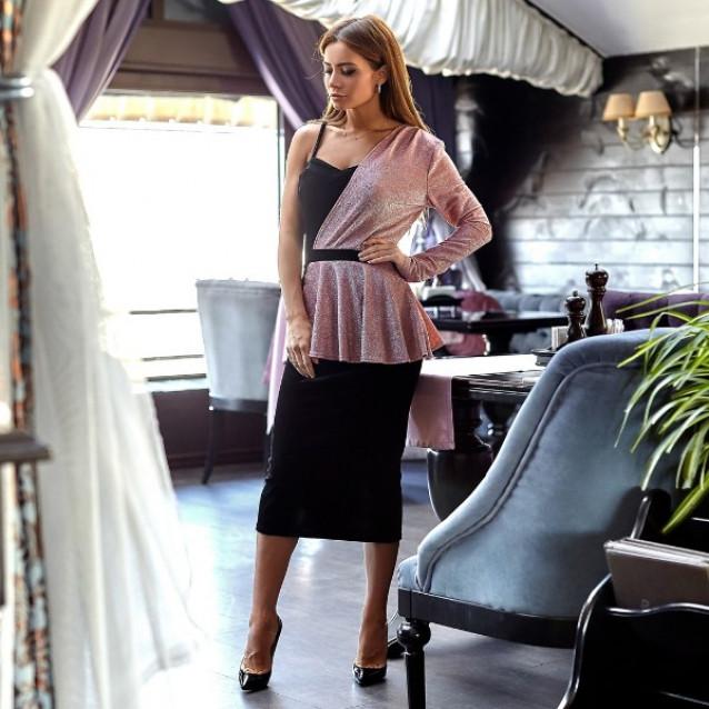 Платье бархатное вечернее 10960