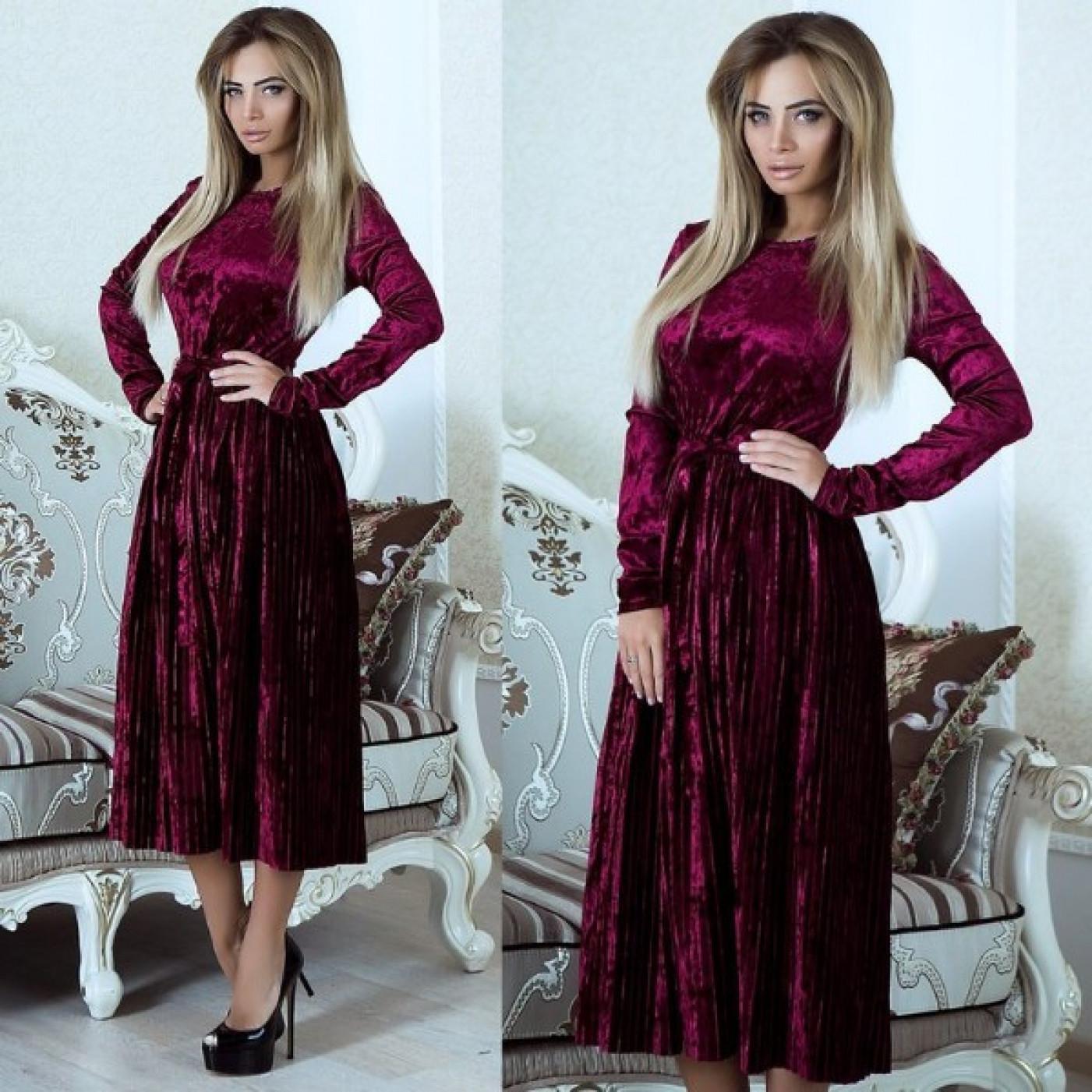 Платье бархатное 10908