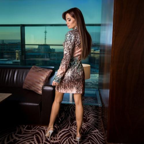 Нарядное платье с пайетками 5784