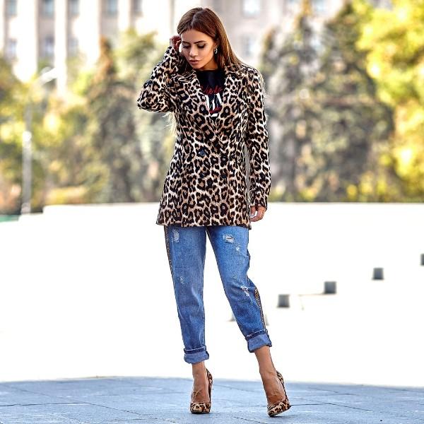 Пиджак леопардовый 88051