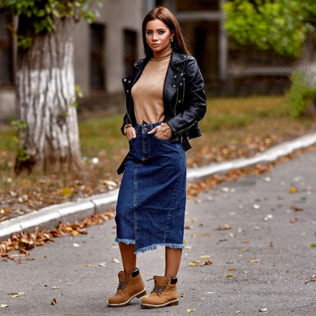 Длинная джинсовая юбка 1331