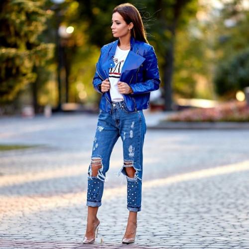 Рваные джинсы 12418