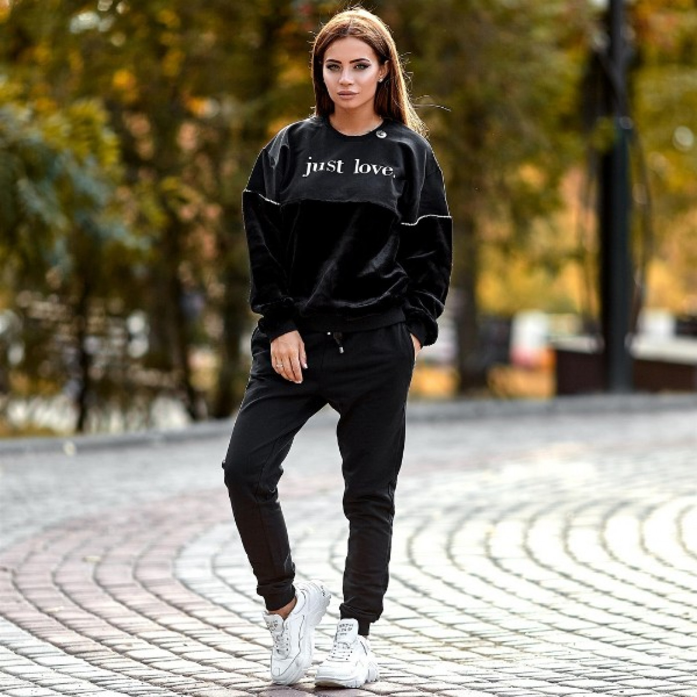 """Костюм модний з написом """"Just Love"""" 988-989"""