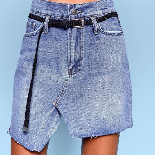 Короткая джинсовая юбка 5016-0