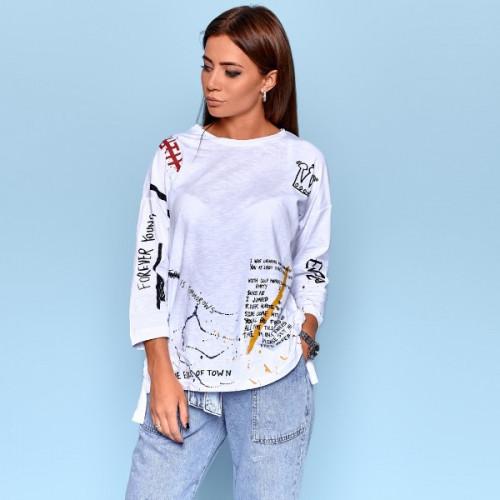 Легкий свитер с 3/4 рукавом 6101-0