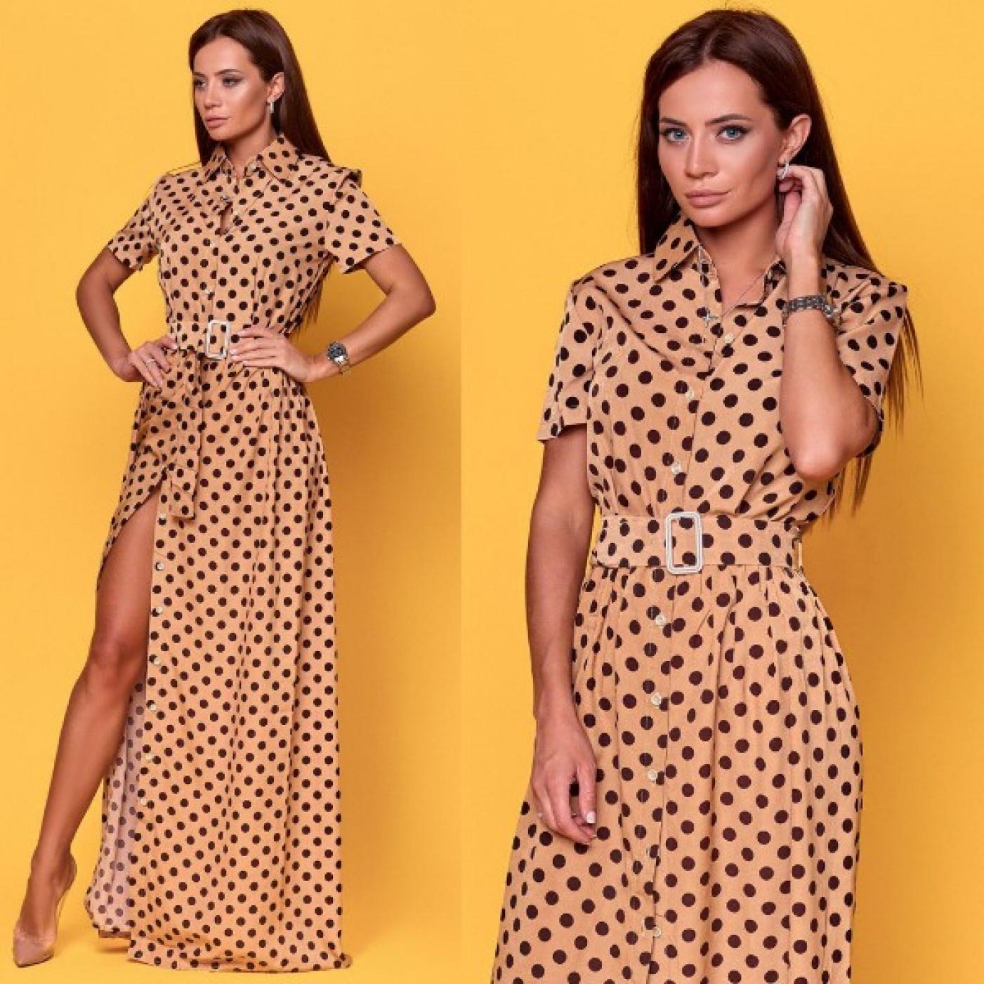 Шифоновое платье с вырезом 11039
