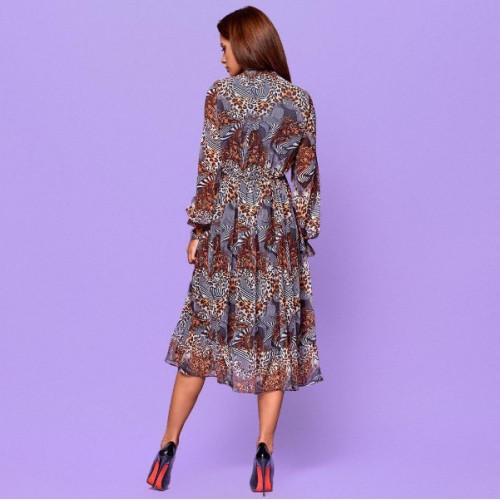 Свободное платье с узорами 42195