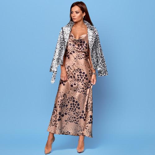 Вечернее платье на бретелях 30819