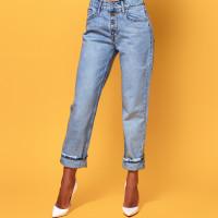Светлые джинсы на пуговицах 3756