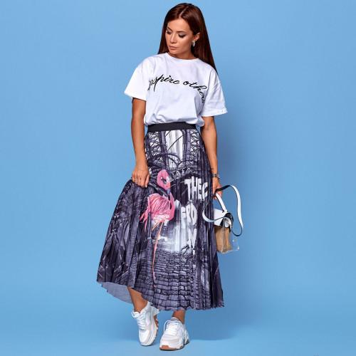 Плиссированная цветная юбка 2009