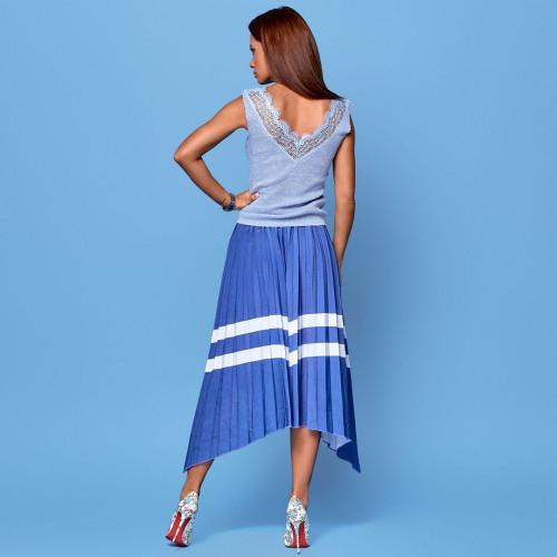 Асимметричная легкая юбка 4697
