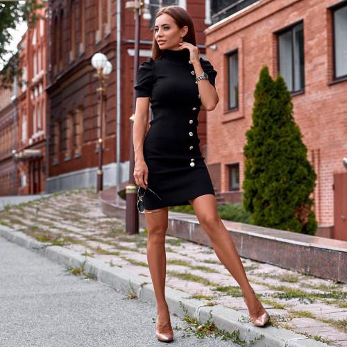 Облегающее платье с пуговицам 90679