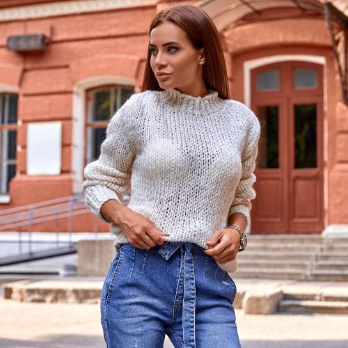 Вязаный мягкий свитер 6939