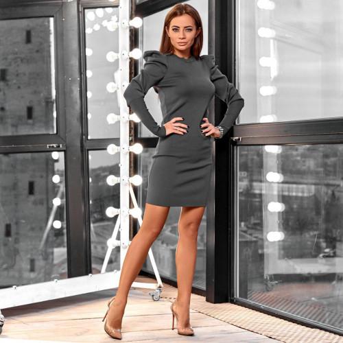 Облегающее платье с воланами 2109-1