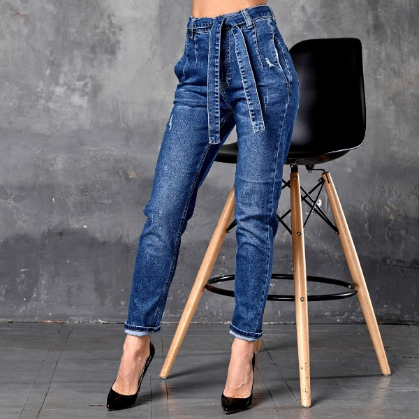 Джинсы с джинсовым ремнем 1382