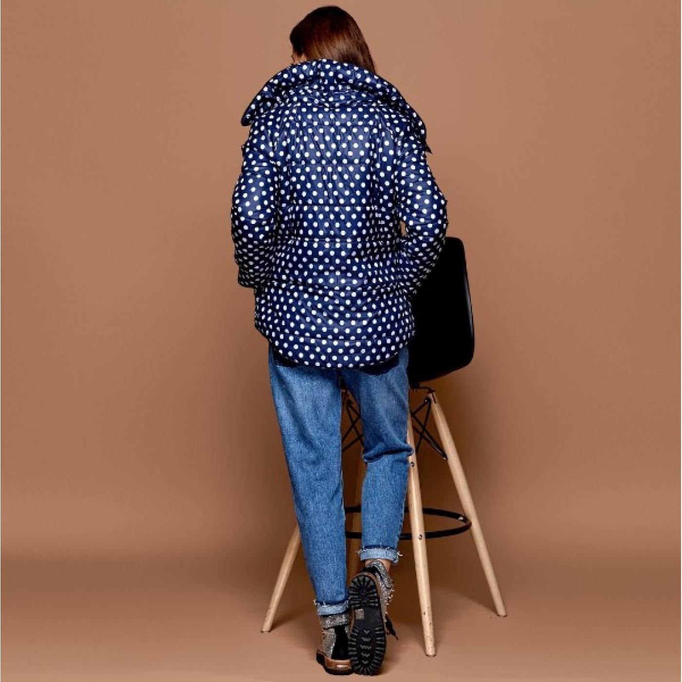 Куртка теплая в горошек 10645