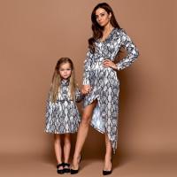 Платье взрослое Family Look с принтом 11206