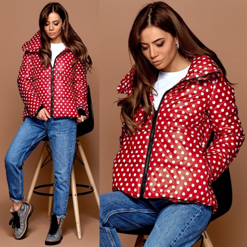Куртка тепла в горошок 10645
