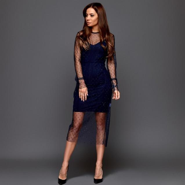 Платье с камушками 11223
