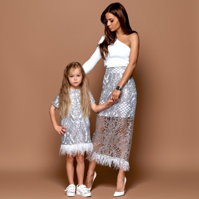 Детские нарядные платья Family Look 11231