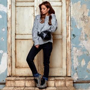 Оригинальные женские джинсы 3630