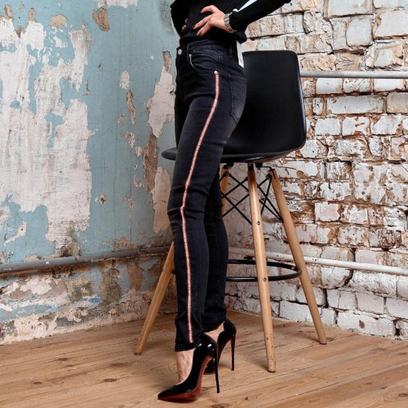 Женские джинсы с лампасами 484-805
