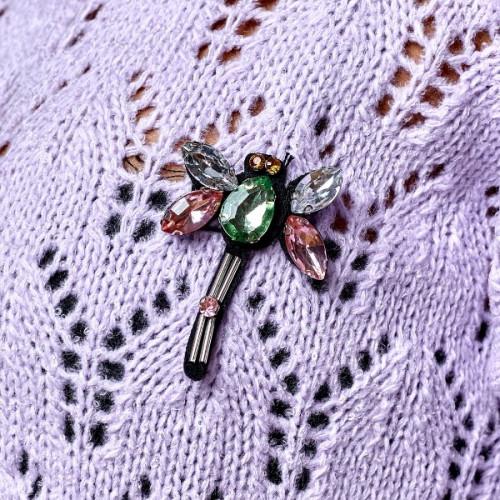 Свитер с украшением стрекоза 5559-0