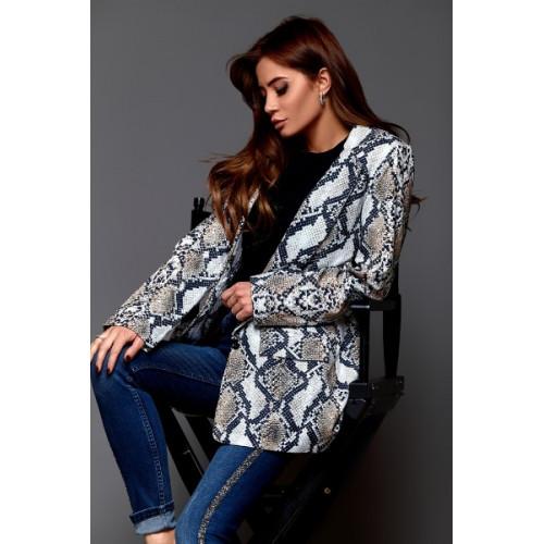 Классический пиджак со змеиным принтом 6935
