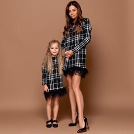 Платье детское с перьями Family Look 11215