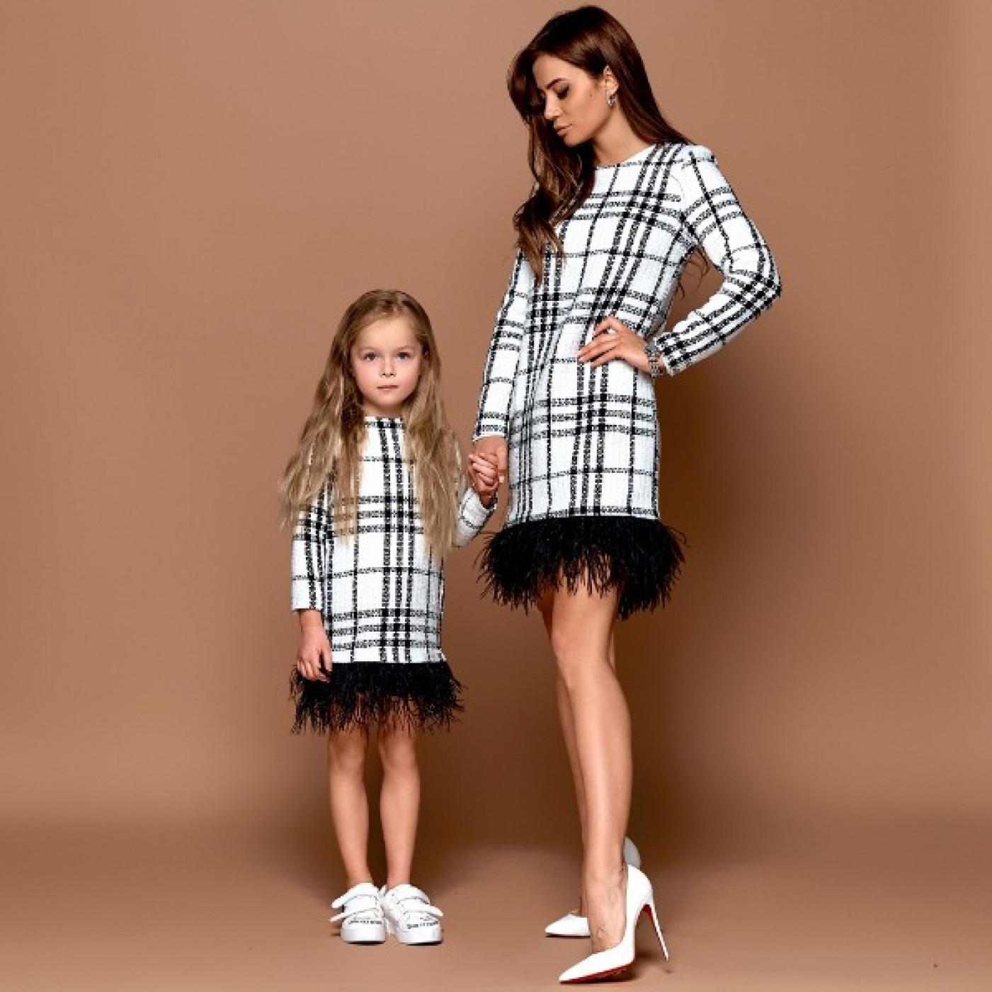 Сукня дитяча з пір'ям Family Look 11215