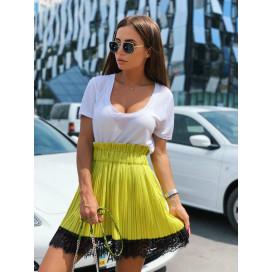 Плиссированная юбка с гипюром 23613