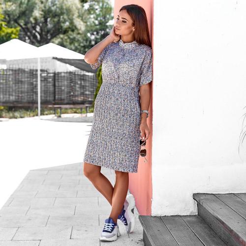 Платье с коротким воротничком 9569