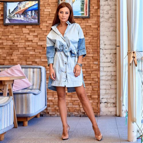Стильное джинсовое платье 30348-003