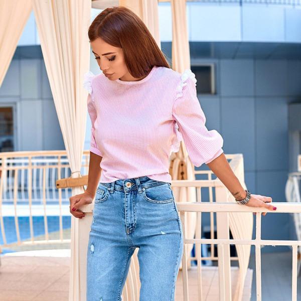 Блуза з вирізом на спині 11117