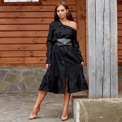 Платье с поясной сумкой 11346