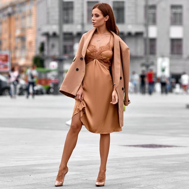 Платье в бельевом стиле 34497